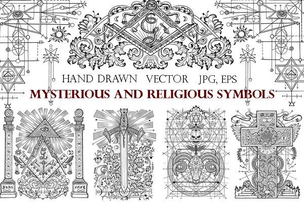 Freemasonry and mystic symbols