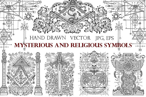 Freemasonry and mystic symbols