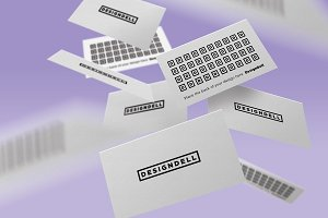 Floating Business Card Mockup Vol. 2