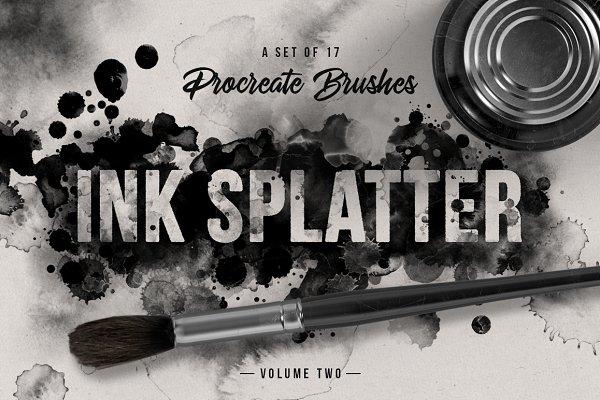 Ink splatter Procreate brushes vol…