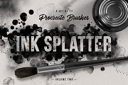 Ink splatter Procreate brushes vol.2