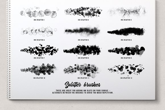 Ink splatter Procreate brushes vol.2 in Add-Ons - product preview 4