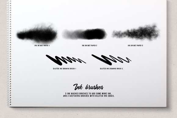 Ink splatter Procreate brushes vol.2 in Add-Ons - product preview 5