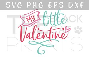 My Little Valentine SVG DXF PNG EPS