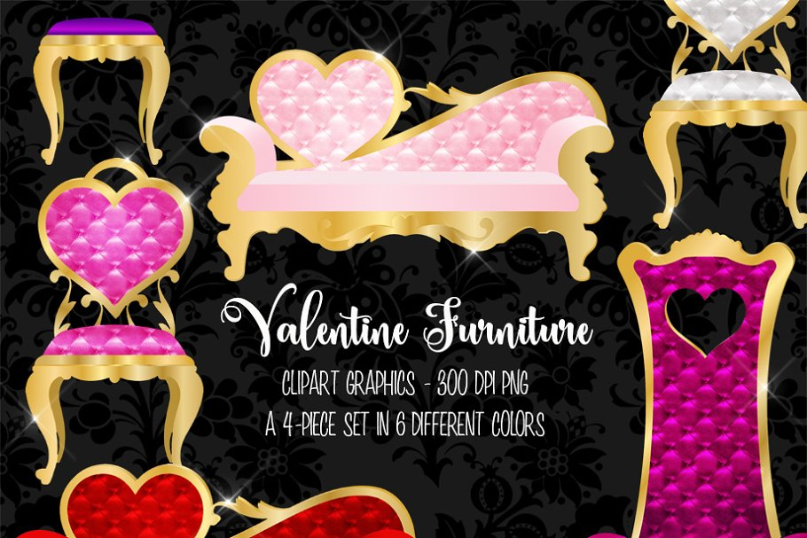 Valentine Furniture Clipart