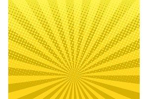Yellow halftone background vector illustration