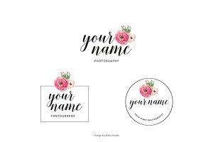 feminine Rose Premade Logo