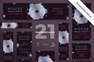 Banners Pack | Music Party