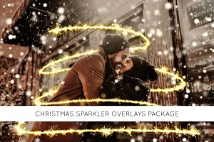 Christmas sparkler overlays package
