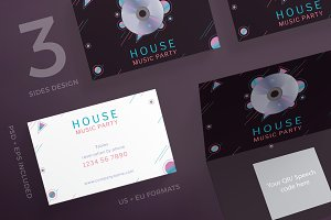 Business cards music business card templates creative market business cards music party reheart Gallery