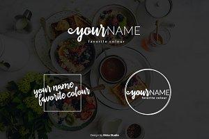 Lettering Font Premade Logo