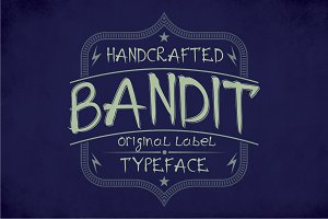 Bandit Modern Label Typeface