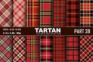 Seamless  Tartan Pattern Part - 39
