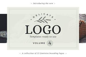 25 Delicate Feminine Logos - Vol 4