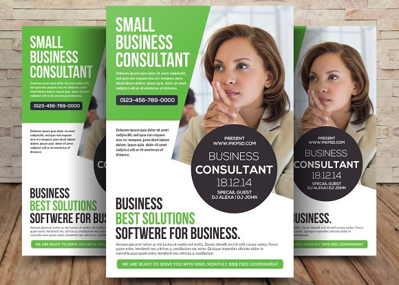 small business consultant flyer flyer templates creative market