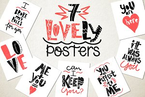 7 Love Posters!