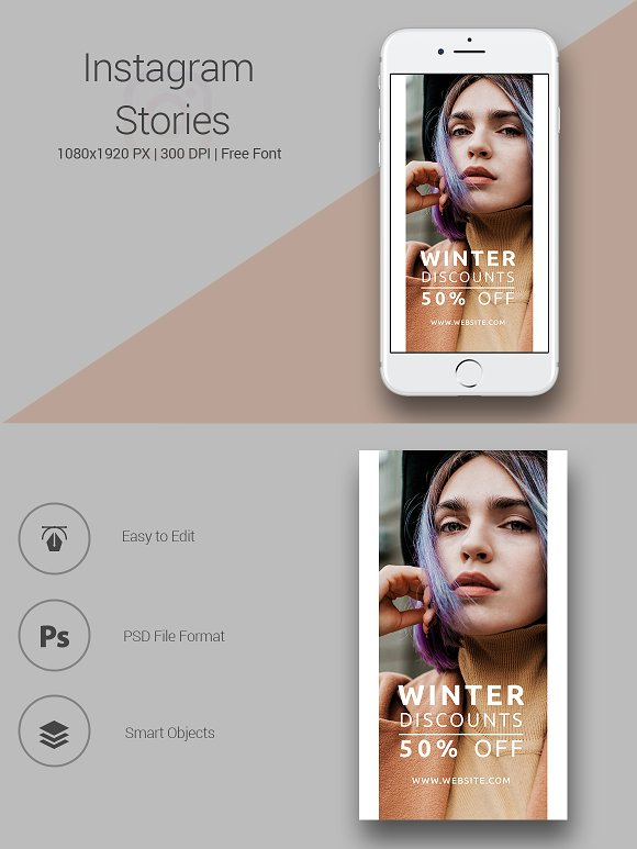 6 Fashion Instagram Stories in Instagram Templates - product preview 1
