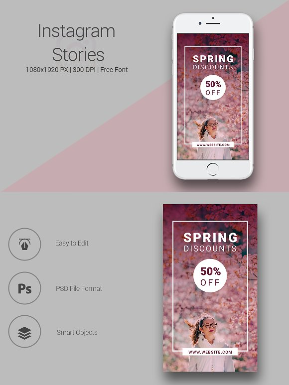 6 Fashion Instagram Stories in Instagram Templates - product preview 2