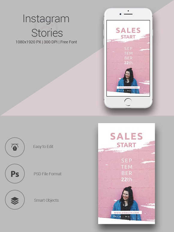 6 Fashion Instagram Stories in Instagram Templates - product preview 3