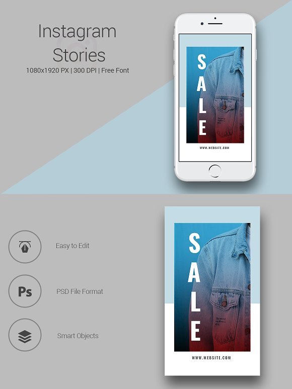 6 Fashion Instagram Stories in Instagram Templates - product preview 4