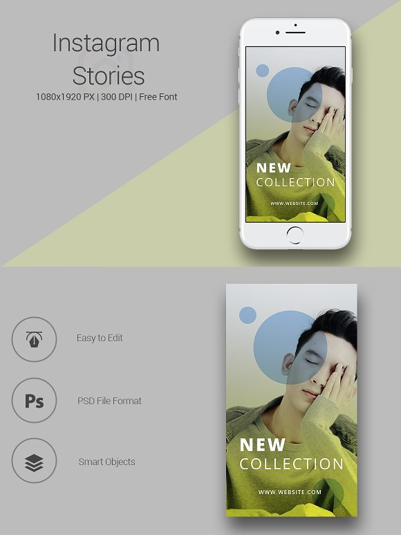 6 Fashion Instagram Stories in Instagram Templates - product preview 5