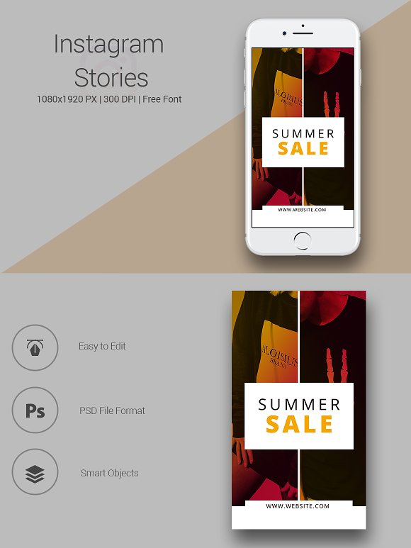 6 Fashion Instagram Stories in Instagram Templates - product preview 6