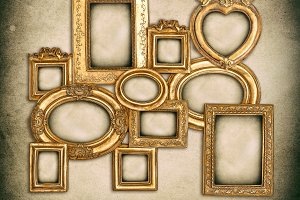 Baroque golden frames