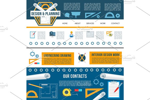 Building construction company web page template