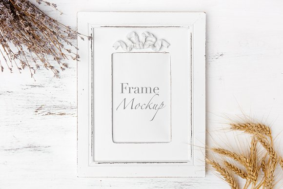 Rustic White Frame Mock Up
