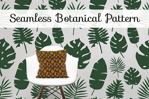 Seamless Botanical Leaf PATTERN
