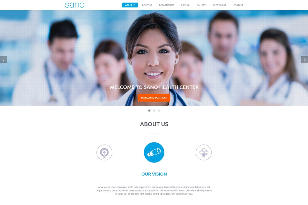 SANO - Health and medical template