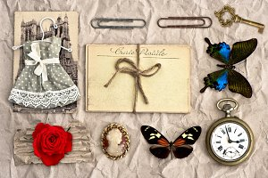Vintage things. Scrapbooking