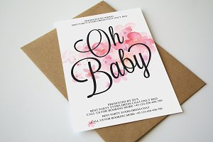Baby Announcement Invitation Card