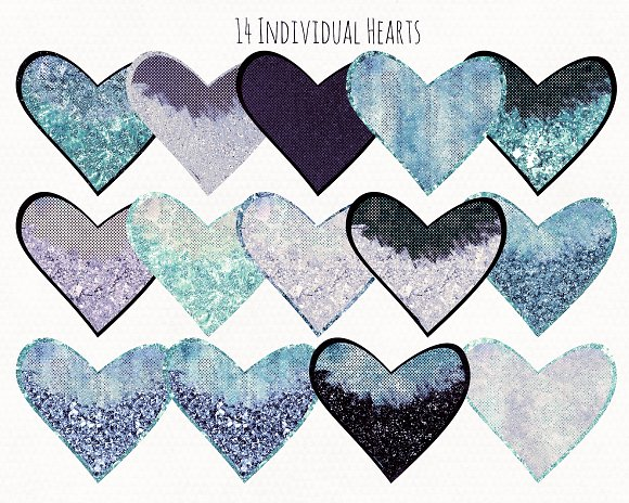 Valentine's Day Glam Heart Graphics in Illustrations - product preview 2