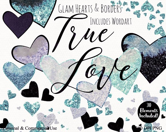 Valentine's Day Glam Heart Graphics in Illustrations - product preview 4