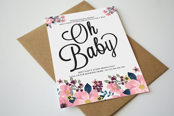 Doodle Baby Announcement Card