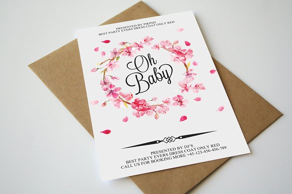 Oh Baby Shower Invitation Card