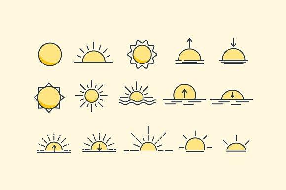 15 Sunset And Sunrise Icons
