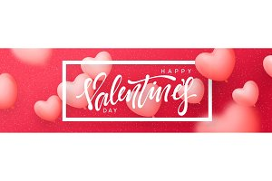 Valentines day banner, posters, greeting cards, headers website.