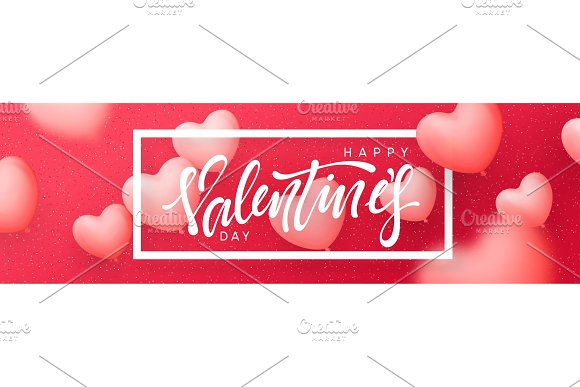 valentines day banner posters greeting cards headers website illustrations valentines posters