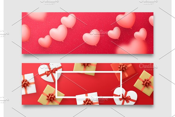 Valentines Day Banner Posters Greeting Cards Headers Website