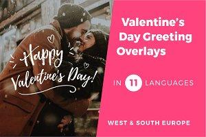11 Valentine's Day Photo Overlays v1
