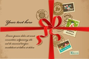 Xmas greeting cards with stams