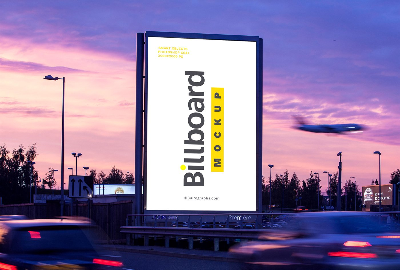 billboards mockups vol 2 product mockups creative market. Black Bedroom Furniture Sets. Home Design Ideas