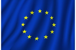European Union vector flag national symbol