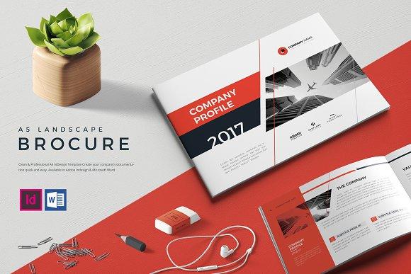 a5 landscape brochure template - company profile design exaple