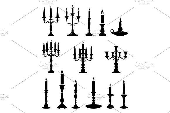 Candle Candlestick Chandelier Set
