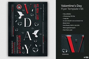 Valentines Day Flyer Template V16