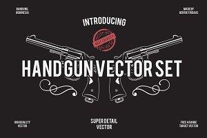 HAND GUN VECTOR SET