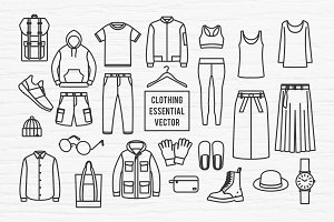 Clothing Essential Vector